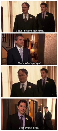 michael scott, thats what she said, made me tear up