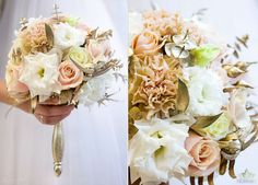 Golden flowers wedding bouquet