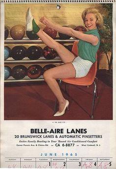 Vintage Bowling Calendar