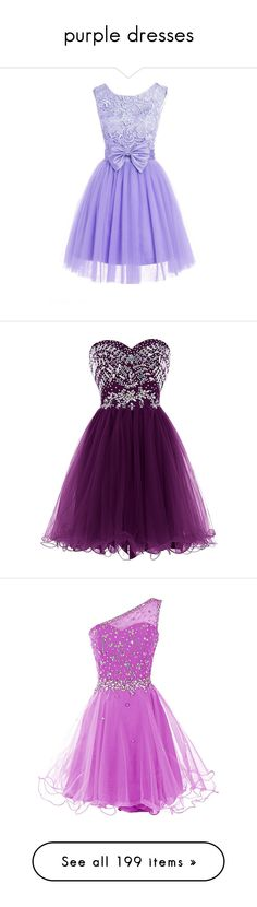 """""""purple dresses"""" by megsjessd99 ❤ liked on Polyvore featuring dresses, lullabies, lace homecoming dresses, short prom dresses, lace prom dresses, purple homecoming dresses, prom dresses, short beaded dress, short beaded cocktail dresses ve sweetheart cocktail dress"""