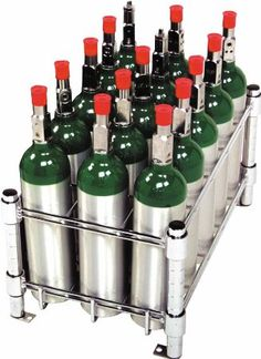 Oxygen Tank Cylinder Storage Rack - Holds 15 Tanks: Health & Personal Care