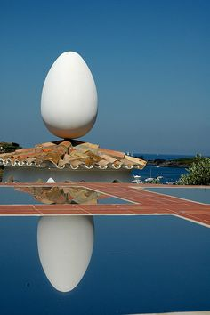 Outdoor of Dali 's house  in Cadaques, Spain