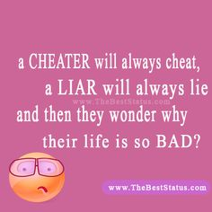 How to deal with a liar and a cheater