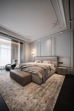 Modern Luxury Bedroom, Master Bedroom Interior, Bedroom Closet Design, Modern Bedroom Design, Home Room Design, Luxurious Bedrooms, Home Bedroom, Home Interior Design, Bedroom Decor