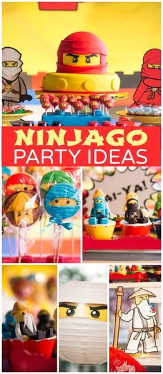 A Lego Ninjago boy birthday party with ninja cookies, cupcakes and cake pops!  See more party planning ideas at CatchMyParty.com!