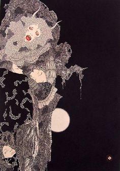 art by Takato Yamamoto Art Inspo, Inspiration Art, Japan Illustration, Vampire Illustration, Japanese Tattoo Artist, Japanese Artists, Fantasy Kunst, Fantasy Art, Art Macabre