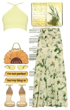 """Im not perfect:but my blog is"" by emcf3548 ❤ liked on Polyvore featuring Erdem, Yves Saint Laurent and Moleskine"