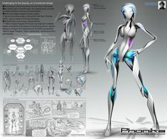 "Advanced humanoid concept ""Phonika"" -Customizable function by installing APPs. -Female secretary type humanoid, android or robot."