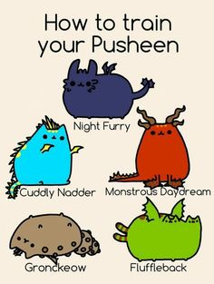 How to train your dragon pusheen cats! Gato Pusheen, Pusheen Love, Pusheen Stuff, How To Train Dragon, How To Train Your, Pusheen Stormy, Cat Memes, Funny Memes, Nyan Cat