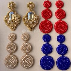 Dazzling Best Collection of Earrings Ideas. Ineffable Best Collection of Earrings Ideas. Diy Earrings Dangle, Jewelry Design Earrings, Tassel Jewelry, Scarf Jewelry, Seed Bead Jewelry, Fabric Jewelry, Jewelry Making Beads, Earrings Handmade, Unique Earrings