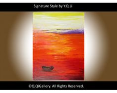 """""""Home Bound Sunset"""" by QIQIGallery 18""""x24"""" Original Painting, $145.00"""