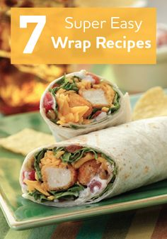 Try a few of our tasty wrap recipes. They are the perfect picnic meal!