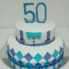 Torta 50 hombre Four Square, Cakes, Desserts, Food, Design, Ice Cream Cakes, Buga, Recipes, Tailgate Desserts
