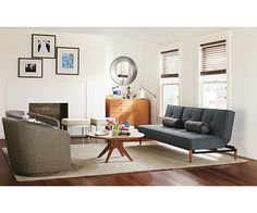 Eden Convertible Sleeper Sofa - Sleeper Sofas - Living - Room & Board (Show this to F. Maybe for the den?)