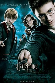 Harry Potter and the Order of the Phoenix (Starring Daniel Radcliffe, Rupert Grint, Emma Watson, Gary Oldman, Ralph Fiennes) Harry Potter Poster, Harry Potter Motto Party, Harry Potter Quiz, Harry Potter Quotes, Harry Potter Movies, Lord Voldemort, Daniel Radcliffe, Gary Oldman, Hogwarts