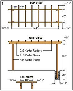Drawing your own pergola plans drawings woodworking for Pergola plans pdf