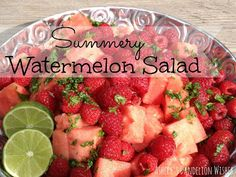 Ashley's Dandelion Wishes: Summery Watermelon Salad