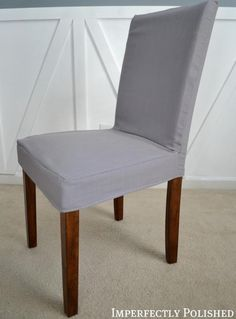 DIY a Parsons Chair Cover Imperfectly Polished