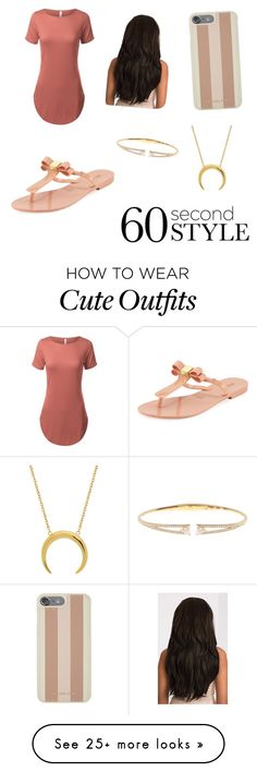 """""""Cute outfit"""" by jakaelat on Polyvore featuring Melissa, Nadri, Michael Kors, tshirtdresses and 60secondstyle"""