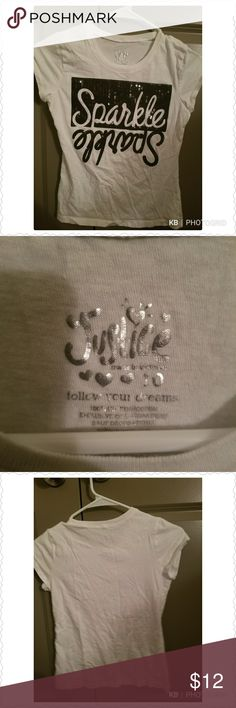 Justice, Sparkle, white Cute,girly sparkle, clean. Justice Shirts & Tops