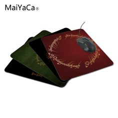 MaiYaCa Arrival Customized The Lord of The Rings Logo Design ame aming Durable PC Anti-slip Mouse Mat for Optal/Trackball Mouse #Affiliate