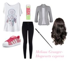 """Melissa Granger- Hogwarts Express"" by unitedbypotter ❤ liked on Polyvore featuring New Look, Maybelline, adidas Originals and Miss Selfridge"