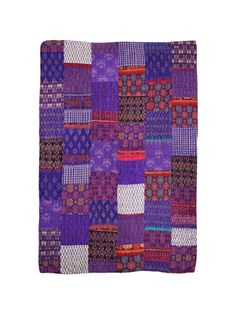 Purple Silk IKAT, with orange teasers....Who would have dreamed...??  Love it.