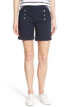 Barbour 'Bowline' Cuff Stretch Cotton Shorts