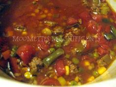 Crockpot Hamburger Vegetable Soup    http://frugalnewenglandkitchen.com/crockpot-hamburger-vegetable-soup-recipe/