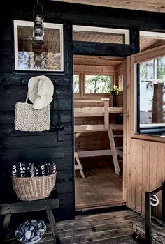 my scandinavian home: A beautiful pared-back Finnish cabin Scandinavian House, Home Design Decor, House Design, Home Decor, Saunas, Design Sauna, Sauna House, Sauna Room, Outdoor Sauna