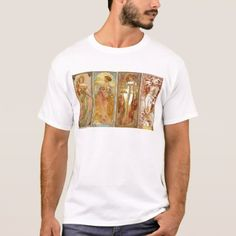 The Four Seasons Art Nourveau T-Shirt - retro clothing outfits vintage style custom