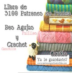Descarga gratis libro de 3100 patrones tricot y ganchillo Crochet Books, Crochet Home, Diy Crochet, Knitting Magazine, Handicraft, Crochet Stitches, Decoration, Diy And Crafts, Coin Purse