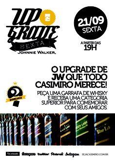 Sexta-feira 21/09 dê um Upgrade no seu whisky JW #2anosCasimiros
