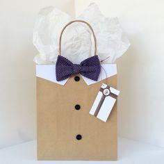 Purple Polka Dots Bowtie Gift Bag