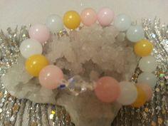 Candy Jade Bracelet with Swarovski Crystals – Evolve Jewelry Design www.evolvejewelrydesign.net www.facebook.com/evolvejewelrydesign1