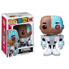 Funko POP TV: Teen Titans Go! - Cyborg Action Figure: The laid-back half-robot from Cartoon Network's Teen Titans Go! who would rather play video games than fight crime gets the Pop! Funko Pop Marvel, Funko Pop Toys, Funko Pop Vinyl, Pop Vinyl Figures, Tous Les Disney, Cyborg Teen Titans Go, Teen Titans Go Toys, Pop Figurine, Teen Tv