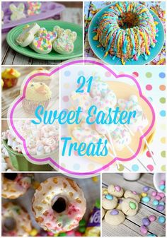 One of my favorite things about Easter is all the yummy sweets that can be made in fun pastel colors! Here are21 of my favorite pretty and sweet Easter recipes! Cadbury Crème Egg Cupcakes  Bunny Trails Popcorn Mix  Easter Bunny Cupcakes  Chocolate Egg Cakes  Peep Bunny Brownies  Easter Rice Krispie …Read more...