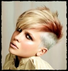 short hair faux hawk women   Very Short hair Faux Hawk Easy hairstyle
