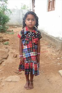 Little Liza from India has been waiting 230 days for a sponsor. She likes to play house and play with dolls. She is learning about Jesus at her local church, but she would love to learn that she has a sponsor today.