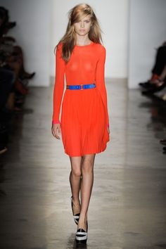 Great color combo! Peter Som 2012 #fashion