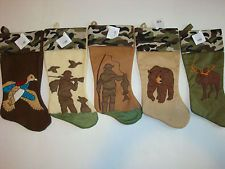 Duck Hunting Christmas Stocking | ... Holiday Stocking Camo Country Hunting Fishing Bear Moose Duck