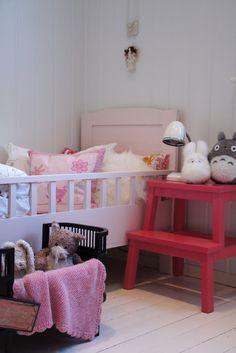 kids room.. cute idea with the ikea step stool.