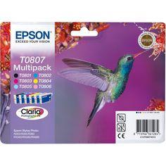 Epson Claria T0807 Hummingbird Multi pack Ink Cartridges TO807 Exp 2020 #Eposon