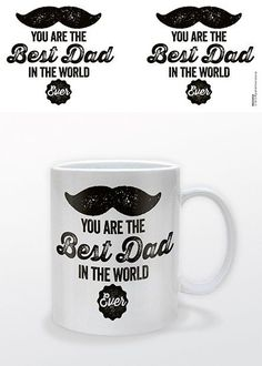 Zwart wit mok met de tekst 'You Are The Best Dad in the World'. Leuk om cadeau te geven met Vaderdag of gewoon zomaar :-)