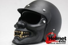The Hannya Samurai Motorcycle helmet.  Gonna get me one.  See the motorists get out of the way when they see me coming!