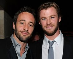 My two favorite Aussies  Alex O'Loughlin and Chris Hemsworth Photo - Australians In Film's 2010 Breakthrough Awards - Inside