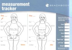 measurements weight loss chart