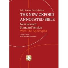 """""""The New Oxford Annotated Bible"""""""