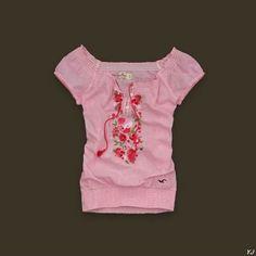 Hollister short sleeve V-neck shirt 012