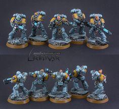Space Wolves Hellblasters – minifactorium Warhammer 40k Space Wolves, Miniaturas Warhammer 40k, Warhammer 40k Miniatures, Space Marine, Marines, Sons, Table, Painting, Ideas